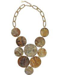 Devon Leigh - Horn Coin Bib Necklace - Lyst