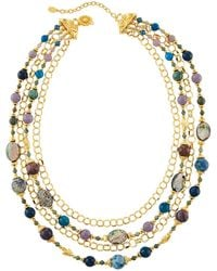 Jose & Maria Barrera - Multi-strand Bead & Chain Draped Necklace - Lyst
