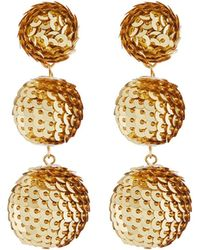 Kenneth Jay Lane | Wrapped Sequin Drop Earrings | Lyst