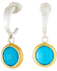 Gurhan - Galapagos Small Hoops W/ Round Turquoise Drops - Lyst