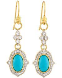 Jude Frances - Moroccan 18k Oval Double Drop Earrings - Lyst