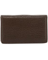 Graphic Image - Magnetic Goatskin Leather Card Case - Lyst