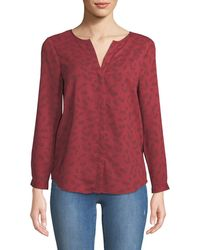 68a26a63ee6334 Joie - Purine Button-front Cherry-stem Print Blouse - Lyst