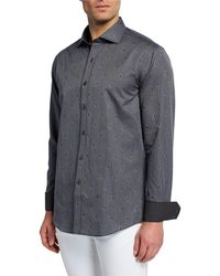 Bugatchi - Men's Shaped-fit Woven Print Shirt - Lyst