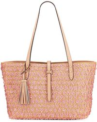 Karl Lagerfeld - Toby Novelty Straw Shoulder Tote Bag - Lyst