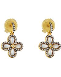 Freida Rothman | Crystal Clover Drop Earrings | Lyst