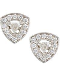 be73e7e737c3e4 Lyst - Penny Preville 18k Trillion-cut Diamond Stud Earrings in Metallic