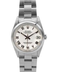 Rolex - Pre-owned 31mm Datejust Oyster Automatic Bracelet Watch - Lyst