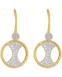 Gurhan | 22k Tuxedo Pavé Drop Earrings | Lyst