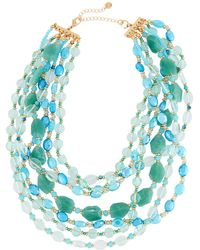 Lydell NYC - Multi-row Beaded Necklace - Lyst