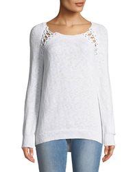 Dex - Lace-up Shoulder Sweater - Lyst