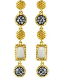 Freida Rothman - Gilded Cable Stone Drop Earrings - Lyst