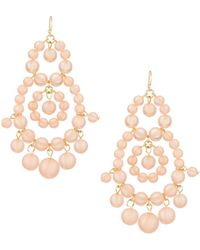Fragments Pink Shell Statement Earrings J3sYaSqmM