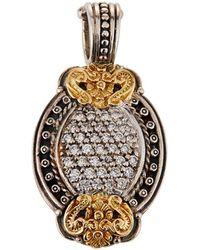 Konstantino - Asteri Petite Pave White Diamond Oval Pendant - Lyst