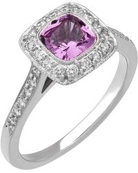 Tiffany & Co | Legacy® Platinum Pink Sapphire & Diamond Ring | Lyst
