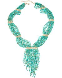 Panacea | Multi-strand Seed Bead Statement Fringe Necklace | Lyst