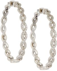 Penny Preville | 18k Infinity Diamond Hoop Earrings | Lyst