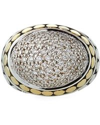 John Hardy - Dot Domed Diamond Ring W/ 18k Gold Size 7 - Lyst
