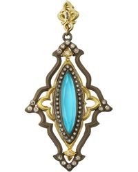 Armenta - Old World Turquoise Enhancer W/ Diamonds & Sapphires - Lyst