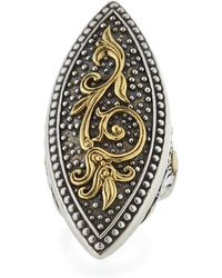 Konstantino - Hebe 18k Gold & Sterling Silver Marquise Ring - Lyst