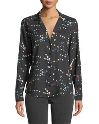 Equipment - Adalyn Refracted Heart Button-down Blouse - Lyst