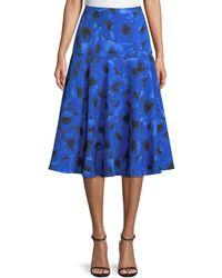 Michael Kors - Poppy-print A-line Midi Dance Skirt - Lyst