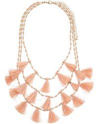 Panacea - Triple Layer Tassel Necklace - Lyst