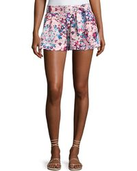 Parker - Tie-front Floral Shorts - Lyst