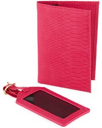 Neiman Marcus - Exotic Passport And Luggage Tag Set - Lyst