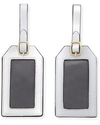 Neiman Marcus - Colorblock Luggage Tag Set - Lyst