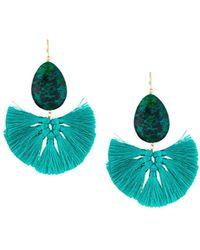 Panacea - Stone Fan Drop Earrings - Lyst