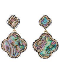 Nakamol - Abalone Clover-dangle Earrings - Lyst