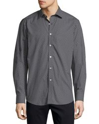 Bugatchi - Men's Classic-fit Dotted Woven Sport Shirt - Lyst
