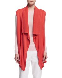 Magaschoni - Sleeveless Draped-front Vest - Lyst