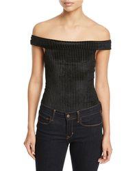 MINKPINK - Melody Off-the-shoulder Bodysuit - Lyst