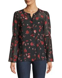 Kensie | Floating Petals Bell-sleeve Blouse | Lyst