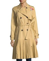 English Factory - Pleated Pin Trench Coat - Lyst