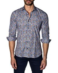Jared Lang - Men's Semi-fitted Cartoon Animal Sport Shirt - Lyst