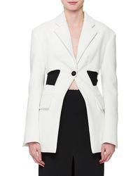 Proenza Schouler - Single-button Long-sleeve Blazer Jacket - Lyst