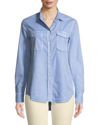 Vince - Long-sleeve Button-front Utility Shirt - Lyst