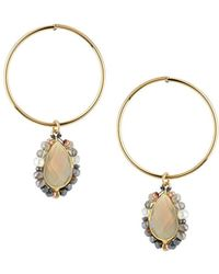 Nakamol - Hoop & Stone Teardrop Earrings - Lyst