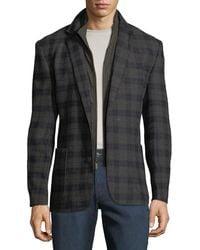 English Laundry - Men's Butler Plaid Blazer W/ Zip-out Bib - Lyst