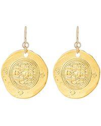 Devon Leigh - Coin Drop Earrings - Lyst