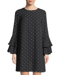 Cece by Cynthia Steffe | Bell-sleeve Polka-dot Dress | Lyst