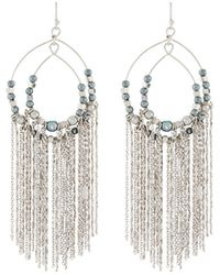 Lydell NYC - Pearly Chain Fringe Earrings - Lyst