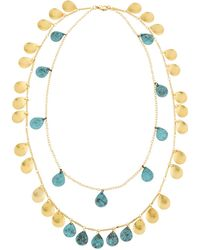 Panacea - Double-strand Patina Necklace - Lyst