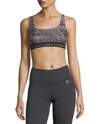 Body Language Sportswear - Alpha Snake-print Performance Sports Bra - Lyst