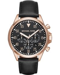 MICHAEL Michael Kors - 43mm Chronograph Gage Leather Watch - Lyst