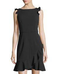 Donna Morgan - Body Con Ruffle Dress - Lyst