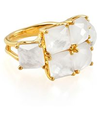 Ippolita - 18k Rock Candy® Square Six-stone Ring In Mop Doublet - Lyst